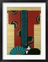 Framed Cat And Kimono
