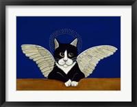 Framed Angel Cat