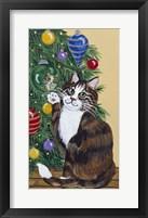 Framed Rudolpha Awaiting An Ornament