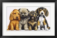 Framed Young Dogs