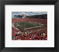 Framed Camp Randall Stadium University of Wisconsin Badgers 2015