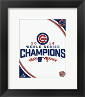 Framed Chicago Cubs 2016 World Series Champions Logo