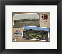 Framed West Side Park / Wrigley Field Composite