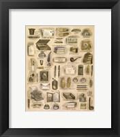Framed Grandpas Pipe & Slippers