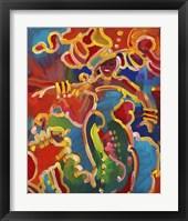 Framed Mardi Gras Lady C