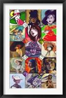 Framed Ladies Collage 1
