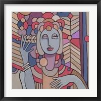 Framed Pop Deco Lady 512