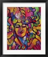 Framed Mardi Gras Lady 6151