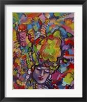 Framed Mardi Gras Lady 6152