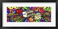 Framed Pop Art Food