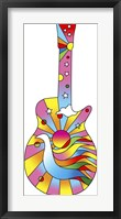 Framed Pop Art Guitar Dove