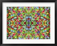 Framed Flowers Pink 715