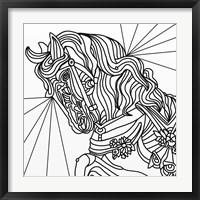 Framed Carousel Pony 2 Lineart