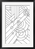 Framed Pop Art Deco Panel 1 Lineart