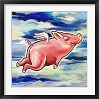 Framed Flying Pig