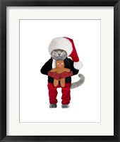 Framed Santa Cat
