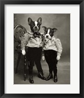 Framed Boston Terriers