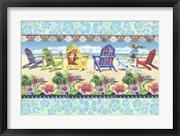 Framed Coastal Chairs Floral