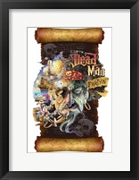 Framed Dead Man Partyin Scroll