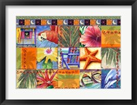 Framed Tropical Quilt Mosaic
