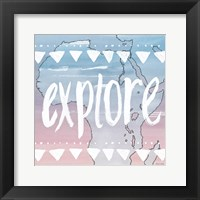 Framed World Traveler Explore