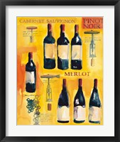 Framed Red Wine Collage