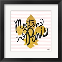 Framed Meet Me in Paris Black and Gold
