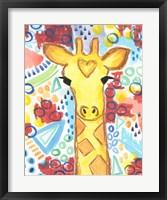 Framed Watercolor - Giraffe