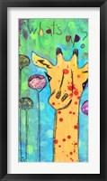 Framed What's Up Giraffe
