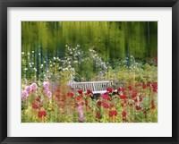 Framed Rose Garden Impressions
