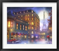 Framed Mightnight In Paris