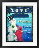 Framed Love Keeps You Warm