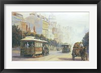 Framed Melbourne Cable Cars