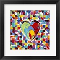 Framed Mosaic Heart I