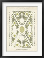 Framed European Garden Design IV