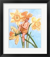 Framed Daffodil Elf