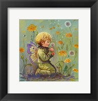 Framed Dandelion Elf