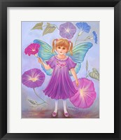 Framed Morning Glory Fairy