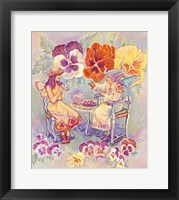 Framed Pansy Fairies