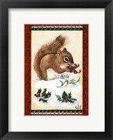 Framed Squirrel's Christmas Gift