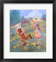 Framed Alice And White Rabbit