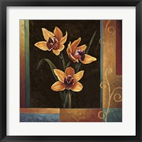 Framed Yellow Orchids