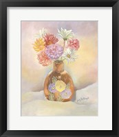 Framed Vase Of Mums