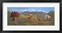 Framed Horses And Barn