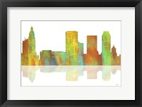 Framed Tulsa Oklahoma Skyline 1