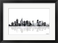 Framed Charlotte NC Skyline BG 1