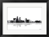 Framed Des Moines Iowa Skyline BG 1