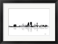 Framed Jacksonville Florida Skyline BG 1