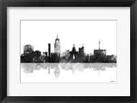 Framed Lansing Michigan Skylines BG 1