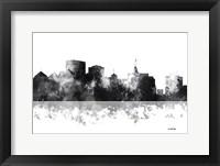 Framed Oakland California Skyline BG 1